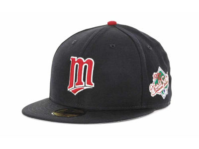 Minnesota Twins MLB Retro World Series Patch 59FIFTY Cap Hats