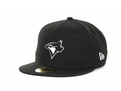 Toronto Blue Jays MLB Black and White Fashion 59FIFTY Cap Hats