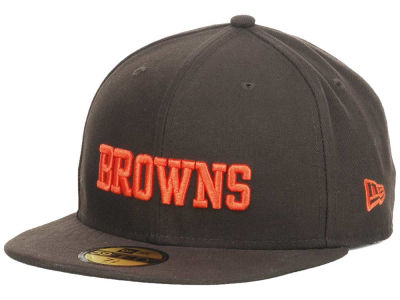 Cleveland Browns NFL Custom On Field Basic 59FIFTY Cap Hats