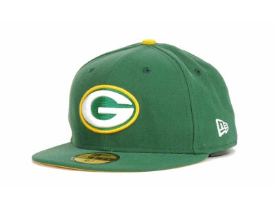 Green Bay Packers NFL Official On Field 59FIFTY Cap Hats