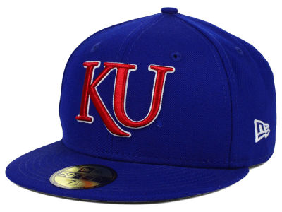 Kansas Jayhawks NCAA AC Stock 59FIFTY Cap Hats