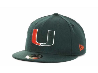 Miami Hurricanes NCAA AC Stock 59FIFTY Cap Hats