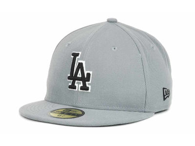 Los Angeles Dodgers MLB Youth Gray Black and White 59FIFTY Hats