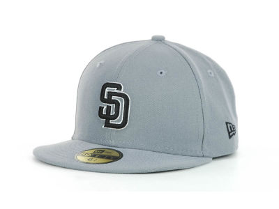 San Diego Padres MLB Youth Gray Black and White 59FIFTY Hats