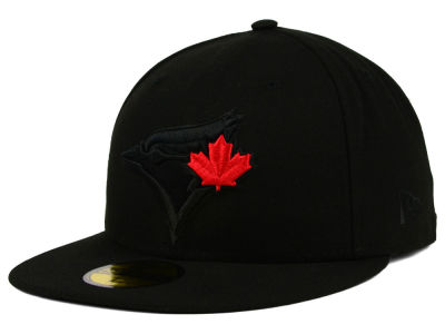 Toronto Blue Jays MLB Black on Black Fashion 59FIFTY Cap Hats
