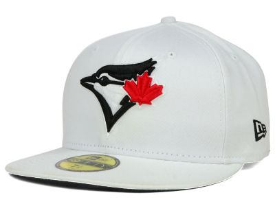Toronto Blue Jays MLB White And Black 59FIFTY Cap Hats
