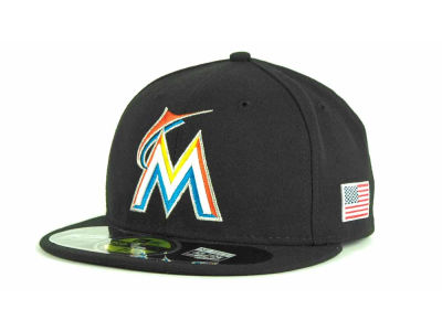 Miami Marlins MLB AC On Field 9-11 Patch 59FIFTY Cap Hats