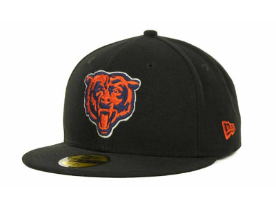 Chicago Bears NFL Black Team 59FIFTY Cap Hats
