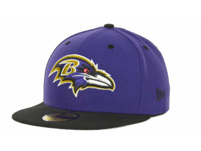 Baltimore Ravens NFL 2 Tone 59FIFTY Cap Hats