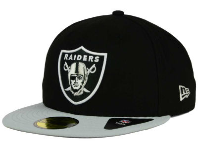 Oakland Raiders NFL Black Team 59FIFTY Cap Hats