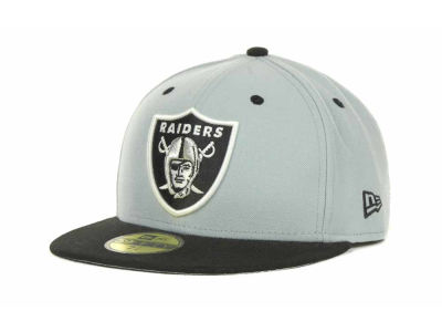 Oakland Raiders NFL 2 Tone 59FIFTY Cap Hats