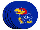Kansas Jayhawks 4-pack Neoprene Coaster Set Kitchen & Bar