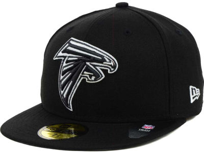 Atlanta Falcons NFL Black And White 59FIFTY Cap Hats