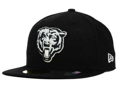 Chicago Bears NFL Black And White 59FIFTY Cap Hats