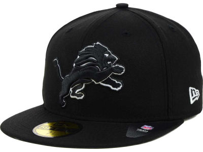 Detroit Lions NFL Black And White 59FIFTY Cap Hats