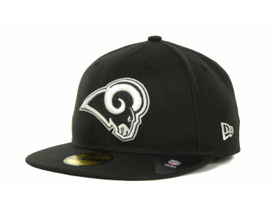 Los Angeles Rams NFL Black And White 59FIFTY Cap Hats