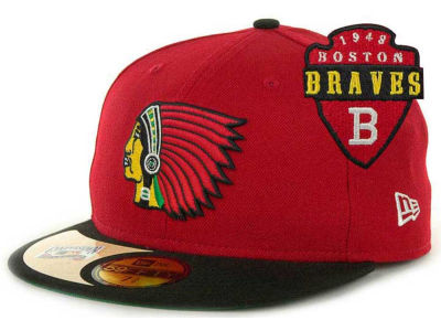 Boston Braves New Era Mlb Cooperstown Patch 59fifty Cap