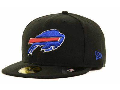 Buffalo Bills NFL Black Team 59FIFTY Cap Hats