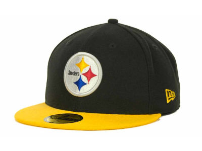 Pittsburgh Steelers NFL Black Team 59FIFTY Cap Hats