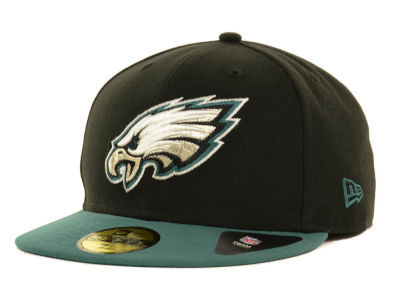 Philadelphia Eagles NFL Black Team 59FIFTY Cap Hats