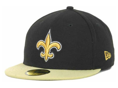 New Orleans Saints NFL Black Team 59FIFTY Cap Hats