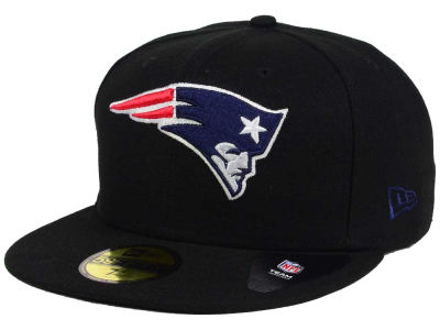 New England Patriots NFL Black Team 59FIFTY Cap Hats