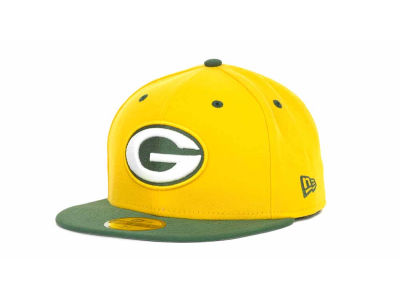Green Bay Packers NFL 2 Tone 59FIFTY Cap Hats