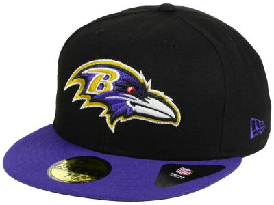 Baltimore Ravens NFL Black Team 59FIFTY Cap Hats