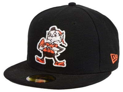 Cleveland Browns NFL Black Team 59FIFTY Cap Hats
