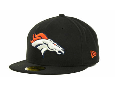 Denver Broncos NFL Black Team 59FIFTY Cap Hats