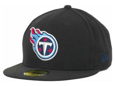 Tennessee Titans NFL Black Team 59FIFTY Cap Hats
