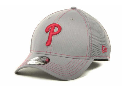 Philadelphia Phillies MLB Gray Neo 39THIRTY Cap Hats