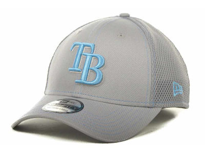 Tampa Bay Rays MLB Gray Neo 39THIRTY Cap Hats