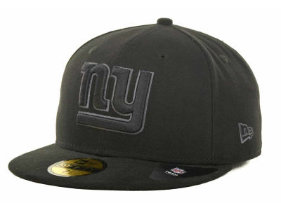 New York Giants NFL Black Gray Basic 59FIFTY Cap Hats