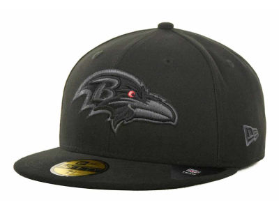 Baltimore Ravens NFL Black Gray Basic 59FIFTY Cap Hats