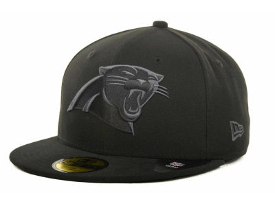 Carolina Panthers NFL Black Gray Basic 59FIFTY Cap Hats