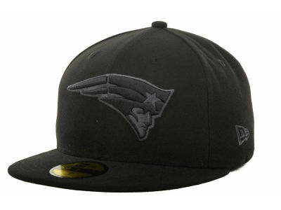New England Patriots NFL Black Gray Basic 59FIFTY Cap Hats