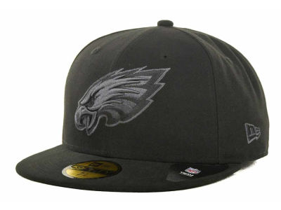 Philadelphia Eagles NFL Black Gray Basic 59FIFTY Cap Hats