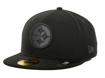 Pittsburgh Steelers NFL Black Gray Basic 59FIFTY Cap Hats