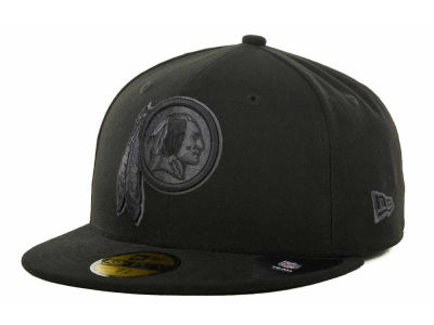 Washington Redskins NFL Black Gray Basic 59FIFTY Cap Hats