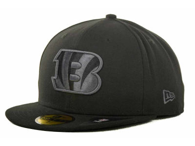 Cincinnati Bengals NFL Black Gray Basic 59FIFTY Cap Hats