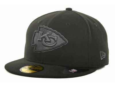 Kansas City Chiefs NFL Black Gray Basic 59FIFTY Cap Hats