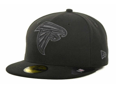 Atlanta Falcons NFL Black Gray Basic 59FIFTY Cap Hats