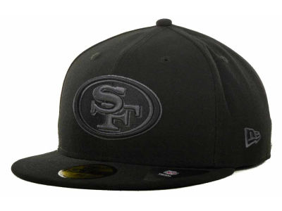 San Francisco 49ers NFL Black Gray Basic 59FIFTY Cap Hats