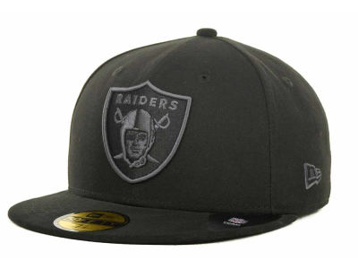 Oakland Raiders NFL Black Gray Basic 59FIFTY Cap Hats