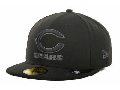 Chicago Bears NFL Black Gray Basic 59FIFTY Cap Hats