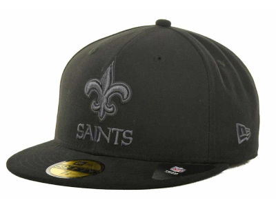 New Orleans Saints NFL Black Gray Basic 59FIFTY Cap Hats