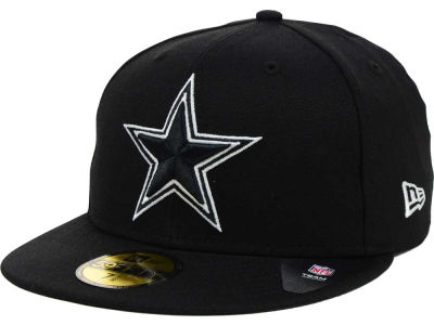 Dallas Cowboys NFL Black And White 59FIFTY Cap Hats