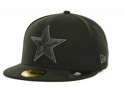 Dallas Cowboys NFL Black Gray Basic 59FIFTY Cap Hats