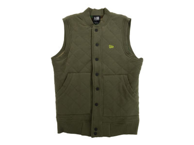 New Era Branded Quilted Fleece Vest